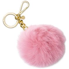 Michael Michael Kors Extra Large Fur Pom Key Charm ($58) ❤ liked on Polyvore featuring accessories, misty rose, michael kors and key charms
