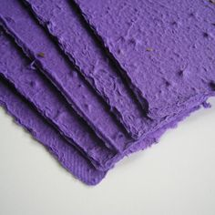 I can do this too.  Plantable paper sheets in purple - Plantable seeded stationery, made with recycled handmade paper and wildflower seeds - Plum, violet