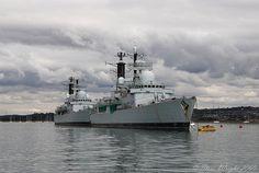 Exeter & Southampton 30-9-09 by Jacksonphreak, via Flickr Exeter, Royal Navy, Southampton, Battleship, Nifty, Sailing Ships, Planes, Boards, British