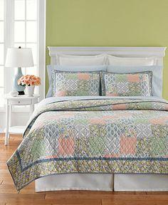Martha Stewart Collection Bedding, Sunshine Patchwork Quilt