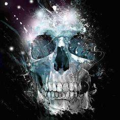 skull / black / galaxy