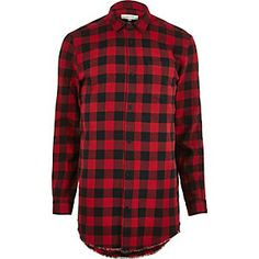 Shop the new range of Men's Shirts from River Island. You'll find a wide range of styles from Oxford shirts to Muscle fit shirts. Mens Printed Shirts, Men's Shirts, Red Flannel Outfit, Mens Clothing Sale, Men's Clothing, Red Checkered Shirt, Casual Shirts For Men, Men Casual, Red Button Down Shirt
