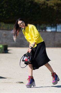 Statement-making platforms: Irene Kim at Paris Fashion Week