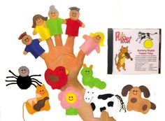 nursery rhyme puppets and cd