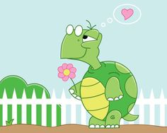 Love Struck Turtle - Illustration