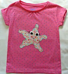 Camiseta de estrella de mar de La casita de Caperucita por DaWanda.com