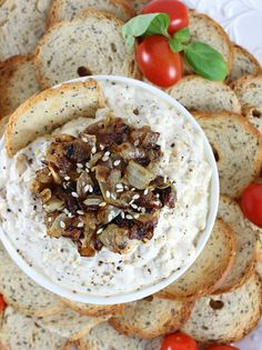 15-Minute Caramelized Onion Dip with Greek Yogurt! this quick & # ...
