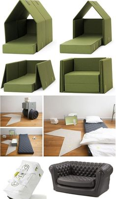 Couch-surfing: deployable beds.