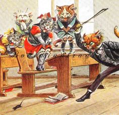 Antique Cats Postcard. Arthur Thiele Signed. by bohemiantrading