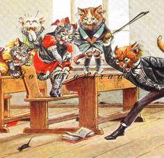 Antique Cats Postcard. Arthur Thiele Signed. by bohemiantrading