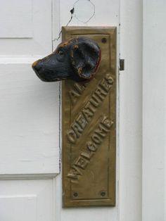 Dog doorknob