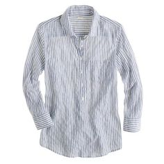 J Crew camp popover in stripe 99% cotton, 1% spandex top by J Crew that's super comfy and flattering. Size 0 but fits more like 00. J. Crew Tops