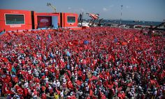 Turkish authorities hold anti-coup rally in Istanbul