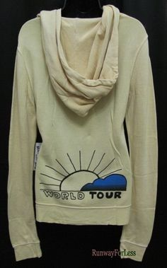 New Usa TRUE RELIGION Brand Jeans M World Tour Vintage Fleece Hoodie Jacket #TrueReligion #Hoodie