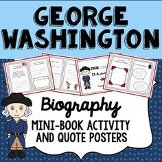This easy to use George Washington printable biography mini-book is available in both color and b/w options, and is useful for both independent and group activities. This is the perfect tool to encourage a wide range of thinking and creativity among students, connecting history with the present day.