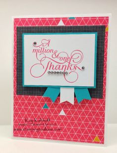Million & One Thanks with Kaleidoscope Designer Paper, Kay Kalthoff, Stamping to Share, Stampin' Up!