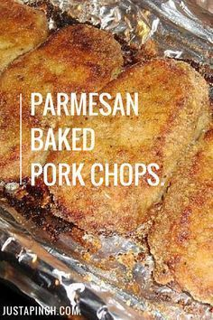 Parmesan Baked Pork Chops The best pork chop recipe you'll ever make for dinner.ever!<br> The Test Kitchen loved this pork chop recipe. The breading kept the chops really juicy and tender. This is a great (and easy) weeknight dinner idea! Crockpot Recipes, Cooking Recipes, Healthy Recipes, Chicken Recipes, Cooking Games, Fun Recipes, Keto Chicken, Chicken Pasta, Cooking Classes