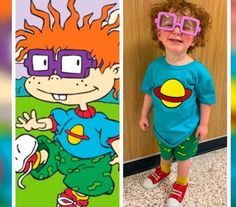 This Kid's 'Rugrats' Halloween Costume Just Won the Hearts of Kids Everywhere Halloween Looks, Halloween Costumes For Kids, Halloween Party, Chucky Costume, Doll House Plans, Creative Costumes, Cute Cosplay, Inappropriate Jokes, Baby Family