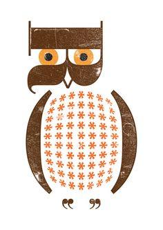 letter symbol owl