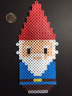 Garden Gnome Perler Beads by NerdFusion on Etsy