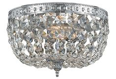 Perfect for those ceilings where a hanging chandelier would be a little too low!  Whitestone Collection