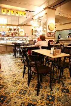 Cafes in Barcelona - this one is Café Granja Viader