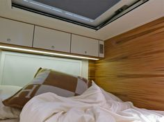 The bedroom in the Action Mobil Global XRS 7200