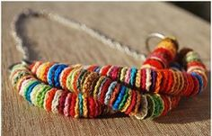 Crochet has been a very famous technique and skill that can help us make different decorative, household, gifting items etc. we must learn h to use this skill to make several beautiful 35 Crochet Cool Things - Free Pattern. Textile Jewelry, Fabric Jewelry, Love Crochet, Knit Crochet, Crochet Summer, Crochet Round, Beautiful Crochet, Crochet Baby, Crochet Circles