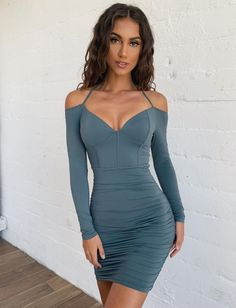 Buy Our Epsilon Dress in Steel Online Today! Skirt Outfits, Dress Skirt, Cool Outfits, Bodycon Dress, Fashion Outfits, Satin Dresses, Sexy Dresses, Gorgeous Women, Beautiful Wife