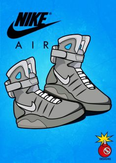 Nike Air Mag illustration (illustrator and Photoshop )