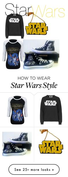 """Star Wars 2"" by nerocainerau on Polyvore featuring Chicnova Fashion, Tee and Cake and Converse"