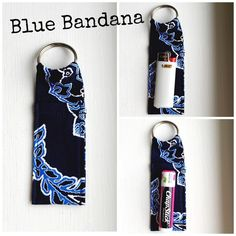 "Made in Vera Bradley Print Chapstick Keychain NWOT Made in new Vera Bradley Print Chapstick Keychain Blue Bandana Chapstick Keychain~Fits Mini Bic Lighters~and Flash Drives Size 4"" x 1  1/2"" Smoke Free Home Chapstick/Lighter NOT Included ✨Pattern placement varies✨ All Keychains are made with high quality material from a smoke free home 100% Vera Bradley Fabric Interface Metal Keyring Made in Vera Bradley Accessories Key & Card Holders"