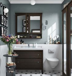 Ikea inspiration - bathroom - dark wood (ikea catalog 2015-2016)