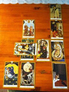 Heather's tarot reading for Holly Tarot Spreads, Card Reading, Tarot Cards, My Books, Goodies, Baseball Cards, Painting, Tarot Card Decks, Sweet Like Candy