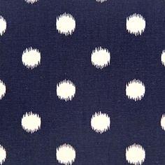 Ikat Dots Sunshine/Blue Natural by Premier Prints - Drapery Fabric - Discount Fabrics