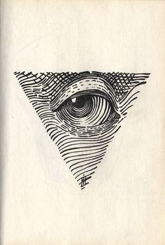 Eye, woodcut.
