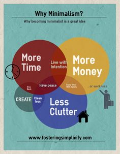 Minimalism. Why becoming minimalist is a great idea.