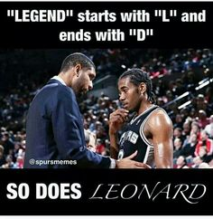 Kawhi Leonard is the upcoming face of the spurs. He never gloats, or pounds his chest, he's quiet and humble. He doesn't have to bring attention to himself by talking about what he does, he lets his actions speak for it all. He just plays and whatever attention comes, comes because he plays the game so well. Just my thoughts  kell