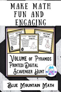 Looking for a fun, engaging activity that gets the kids moving and talking about math? In this resource, students practice finding the volume of pyramids and you can choose between a printed activity or digital (self-grading) activity. The printed activity works great in the classroom while the digital activity can be used for distance learning or absent students.