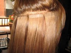 tape weft extensions, look back and there's a whole post of hair extension care information.