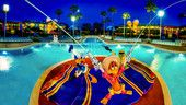 The Tres Caballeros centerpiece of the guitar-shaped Calypso Pool at Disney's All-Star Music Resort