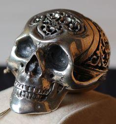 Cottereau a Mayenne - SilberTotenkopfspindeluhr - Memente Mori-das Vergängliche Skull, Ebay, Nice Watches, Silver, Nice Asses, Sugar Skull