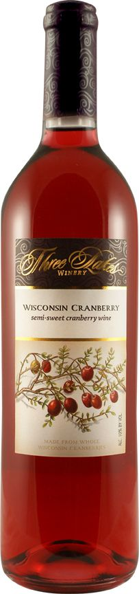 Cranberry wine from Three Lakes Winery in Wisconsin (love ALL their flavors, esp. the cran-raspberry)