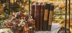 Chocolate & Gold Antique Book Inspired Styled Shoot | The Perfect Palette
