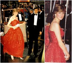 """Lady Diana Spencer accompanied her fiancé Prince Charles, and Princess Margaret to the premiere of the new James Bond film, """"For Your Eyes Only""""   The premiere was at the Odeon Cinema in Leicester Square,"""