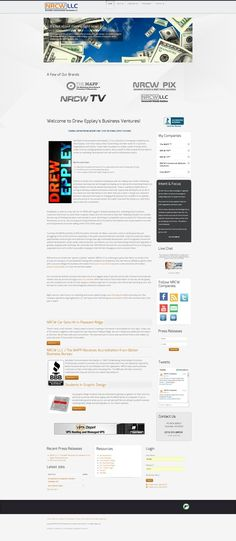 """Our first """"simplistic"""" HTML5 / JSON Website is our parent company website. Just launched this month!"""