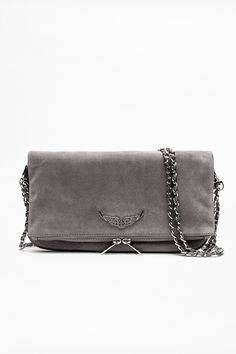 lala berlin zadig and voltaire bag suede Grey Leather, Cow Leather, Helles Bijoux, Ballerine Miu Miu, Tops Vintage, Popular Bags, Fashion Handbags, Clutch Bag, Rock