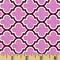 Aviary 2 Lodge Lattice Lilac from @fabricdotcom  Designed by Joel Dewberry for Free Spirit Fabric, this cotton print fabric features an all over lattice design in shades of lilac and purple. Use fabric for quilts, home decor accents and craft projects.