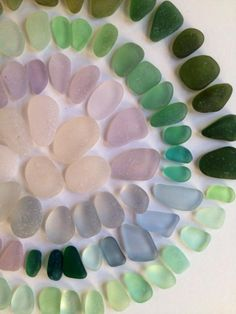 color wheel of sea glass for color inspiration