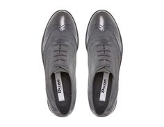 DUNE LADIES FOUNTAIN - Suede Lace Up Brogue - grey | Dune Shoes Online